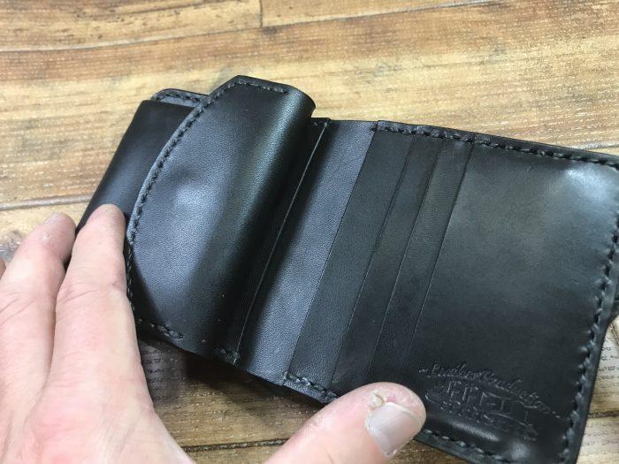 ヌメ革2つ折財布